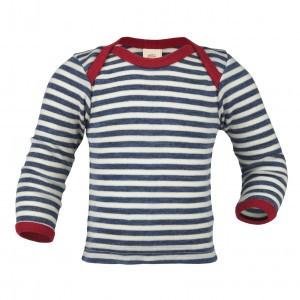 Engel Wollen Shirt lange mouw Blauw gestreept (maat 98-104)