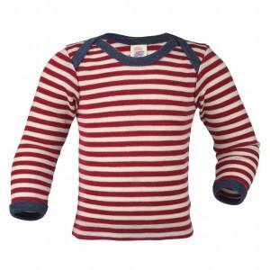 Engel Wollen Shirt lange mouw Rood gestreept (maat 86-92)