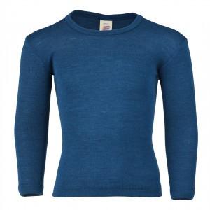 Engel Wol-Zijde Shirt lange mouw Blauw (maat 104)