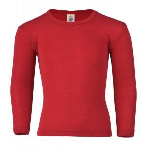 Engel Wol-Zijde Shirt lange mouw Rood (maat 104)