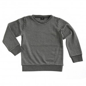Mundo Melocoton T-shirt met Lange Mouwen Interlock La Linea Antraciet (maat 98-104)