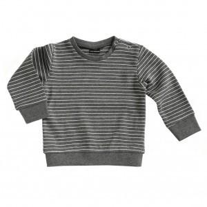 Mundo Melocoton T-shirt met Lange Mouwen Interlock La Linea Antraciet (maat 50-92)