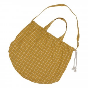 Haps Nordic Shopping Bag Mustard Check