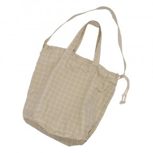 Haps Nordic Shopping Bag Oyster Grey Check