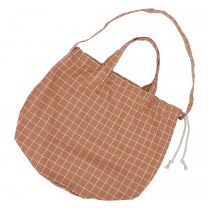 Haps Nordic Shopping Bag Terracotta Check