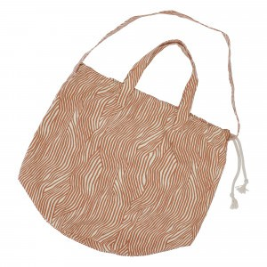 Haps Nordic Shopping Bag Terracotta Wave