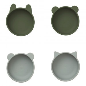 Liewood Silicone Kommetjes Hunter Green Mix (4 pack)