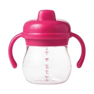Oxo Tot Transitions Sippy Antilekbeker met handvaten Roze