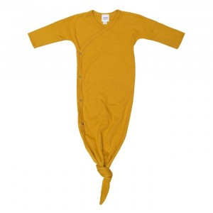 Wooly Organic Slaapzak met Knoop Golden Yellow (0-6 maand)