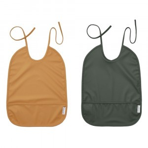Liewood Slabben Mustard/Hunter Green (2-pack)