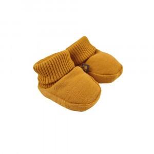 Forgaminnt Amber Yarn Baby Slofjes Mustard Sunset