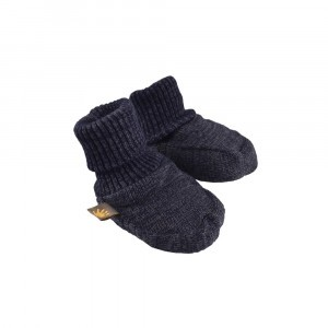 Forgaminnt Amber Yarn Baby Slofjes Navy Blue
