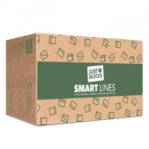 Just Blocks Houten Blokken 'Smart Lines' Medium Pack (166 stuks)