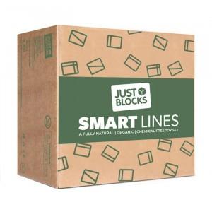 Just Blocks Houten Blokken 'Smart Lines' Small Pack (100 stuks)