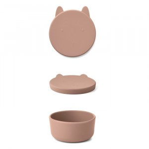 Liewood Charlot Silicone Snackdoosje Rabbit Dark Rose