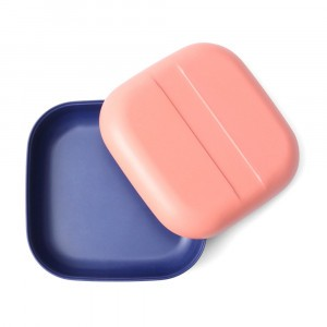 Ekobo Snackbox Coral/Royal Blue