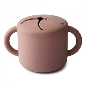 Mushie Snack Cup Cloudy Mauve