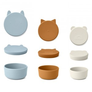 Liewood Corgan Silicone Snackdoosjes (Set van 3) Blue Multi Mix