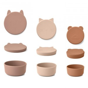 Liewood Corgan Silicone Snackdoosjes (Set van 3) Rose Multi Mix