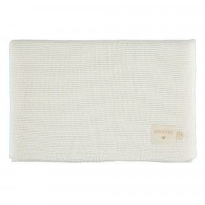 Nobodinoz So Natural Knitted Baby Dekentje (70 x 90cm) Milk