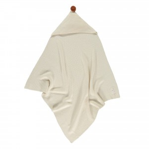 Nobodinoz So Natural Knitted Baby Cape (65 x 65cm) Natural