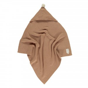 Nobodinoz So Natural Knitted Baby Cape (65 x 65cm) Biscuit
