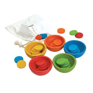 PlanToys Sorteer en tel - cups