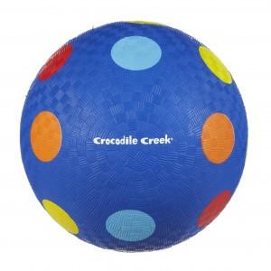 Crocodile Creek Speelbal Blauw met bolletjes 18cm