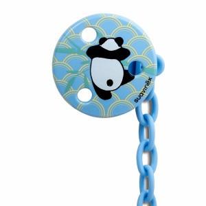 Suavinex Speenketting  Rond Panda Blauw