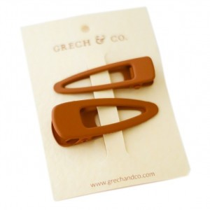 Grech & co. Haarspelden Matte Clips (set van 2) Spice