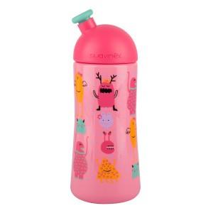 Suavinex Fles Sporty +12 maand 360 ml Booo! Roze