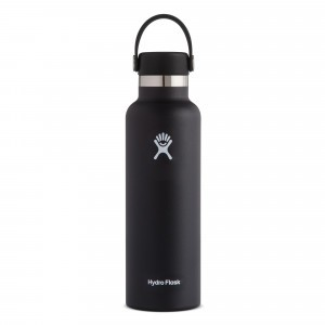 Hydro Flask Insulated Drinkfles Standard Mouth w/ Standard Flex Cap (621 ml) Black