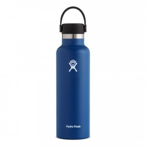 Hydro Flask Drinkfles Standard Mouth w/ Standard Flex Cap (621 ml) Cobalt