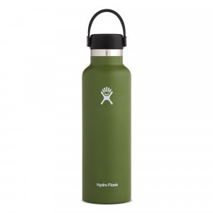 Hydro Flask Drinkfles Standard Mouth w/ Standard Flex Cap (621 ml) Olive