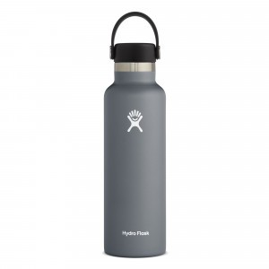 Hydro Flask Drinkfles Standard Mouth w/ Standard Flex Cap (621 ml) Stone