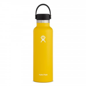 Hydro Flask Insulated Drinkfles Standard Mouth w/ Standard Flex Cap (621 ml) Sunflower
