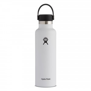 Hydro Flask Drinkfles Standard Mouth w/ Standard Flex Cap (621 ml) White