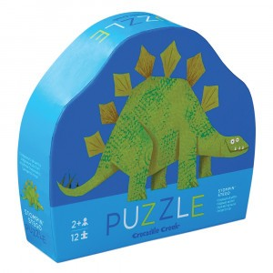 Crocodile Creek puzzel mini Stegosaurus (12 stukken)
