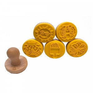 Ailefo 5 Houten Stempels voor speelklei 'Zomer'