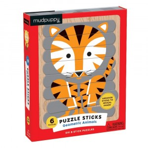 Mudpuppy Puzzel Sticks Geometric Animals