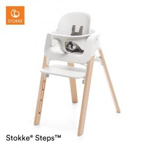 Stokke Steps Stoel White/Natural + Babyset White