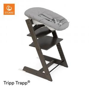 Stokke Tripp Trapp Stoel Hazy Grey + Newborn Set Grey