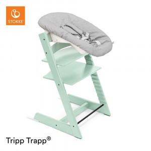 Stokke Tripp Trapp Stoel Soft Mint + Newborn Set Grey