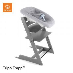 Stokke Tripp Trapp Stoel Storm Grey + Newborn Set Grey
