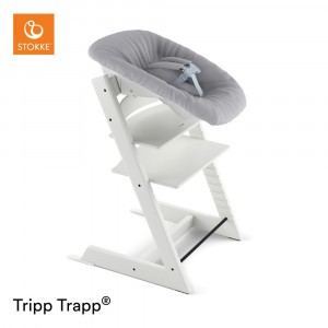 Stokke Tripp Trapp Stoel White + Newborn Set Grey