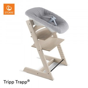 Stokke Tripp Trapp Stoel Whitewash + Newborn Set Grey