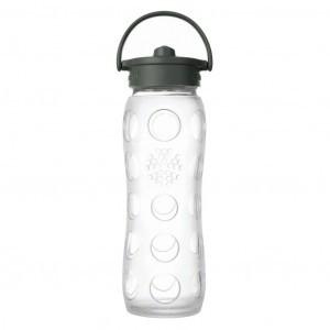 Lifefactory Glazen Drinkfles 650ml Straw Cap Transparant