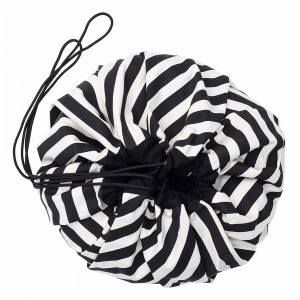 Play & Go Opbergzak/Speelkleed Stripes Black