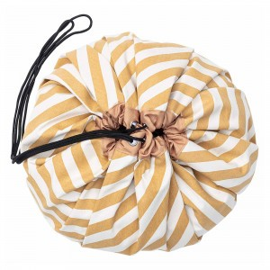 Play & Go Opbergzak/Speelkleed Stripes Mustard