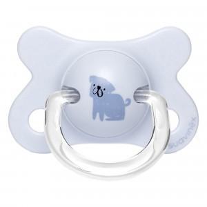 Suavinex Fopspeen Fusion Fysiologisch Latex 0-4 Maand Hondje Blauw